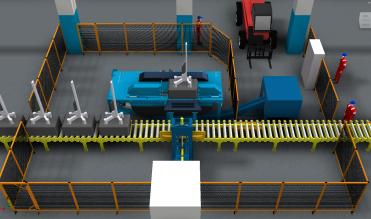 Anode slotting machine
